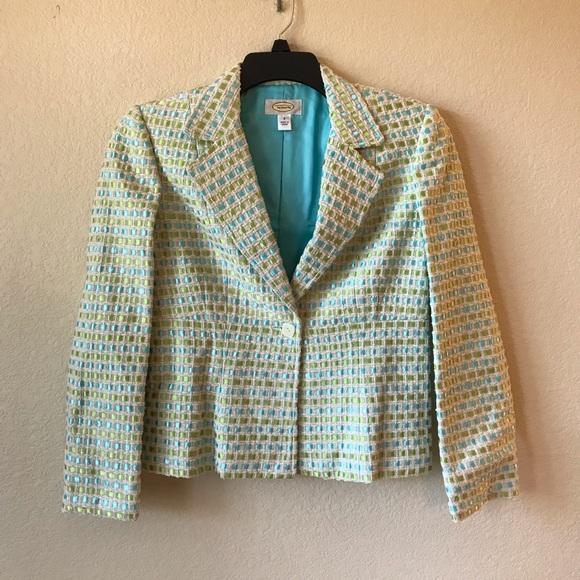 Talbots Jackets & Blazers - Talbots Womens Silk Blend Woven Blazer Jacket